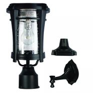 Gama Sonic Aurora Bulb Solar Light - With Pole, Post & Wall Mount Kit