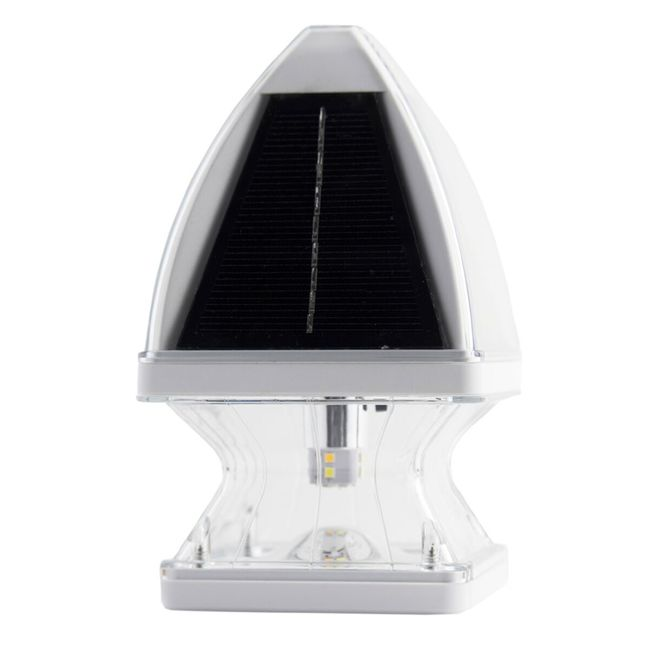 Gama Sonic Gothic Solar Post Cap Light - Available in Black and White
