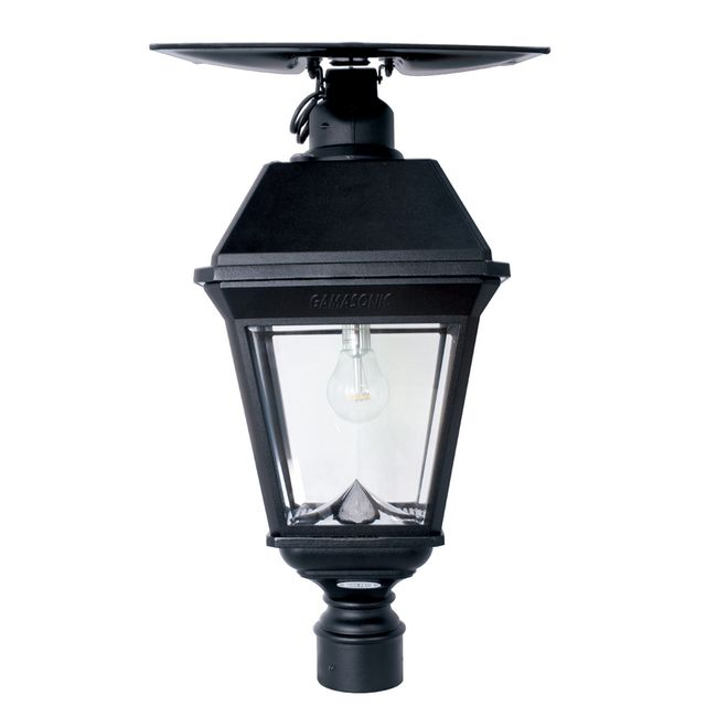 Gama Sonic Imperial Bulb ATS Commercial Post Light with 3 Fitter Mount