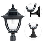 Gama Sonic Pagoda Bulb Solar Lamp - With Pole, Post & Wall Mount Kit