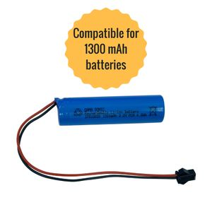 Gama Sonic 1500 mAh Replacement Battery - for GS-98, GS-99 and GS-106 Series Lamps - Lithium Ion