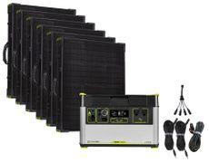 Goal Zero Yeti 1500X Portable Solar Generator Maximum Intake Kit with (6) Boulder 100 Briefcase Panels