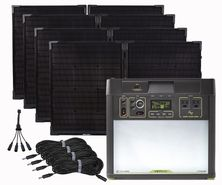 Goal Zero Yeti 3000 Lithium Solar Generator Kit with 4 Boulder 100 Watt Solar Briefcases - V2 with Wi-fi