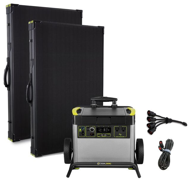 Goal Zero Yeti 3000X Lithium Lightweight Solar Generator Kit with (2) Boulder 200 Watt Panels