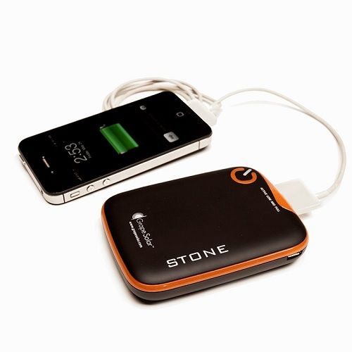 Grape Solar Stone Portable Device Charger with 5200mAh Polymer Lithium Ion Battery