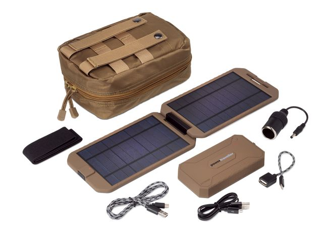 New Powertraveller Tactical Extreme 12,000 mAh Battery and Solar Charger Kit
