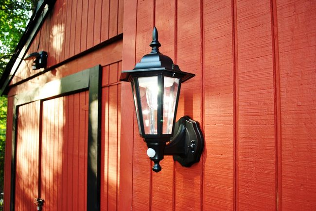 Plastic Battery Powered Motion Activated Wall Sconce - 2 Pack