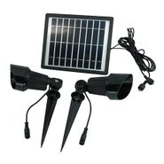 Premium Dual Solar Spotlight Kit with Dual Heads & Wireless Remote