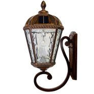 Royal Wall Mount Solar Lamp with GS-Solar LED Light Bulb - Brushed Bronze