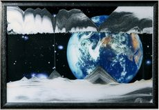 Sand Art Picture - Earth (Apollo 17) - By Klaus Bosch