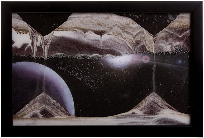 Sand Art Picture - Outer Space - By Klaus Bosch