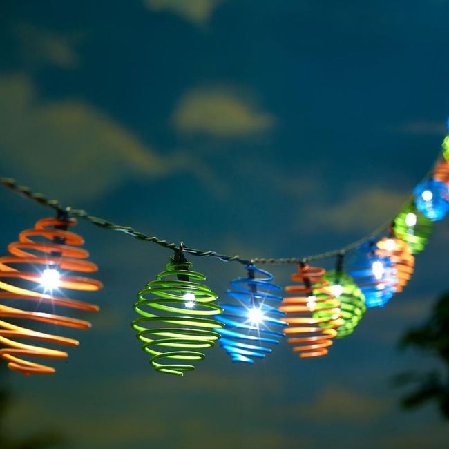 Solar Curvet Multi Color String Lights- Professional Series