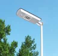 Solar LED Street Light for Gardens, Courtyards, Parks and General Area Lighting - Pole Not Included