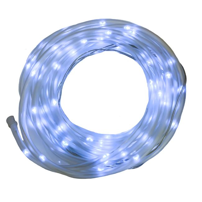Solar Rope Light - 100 LED - Bright White