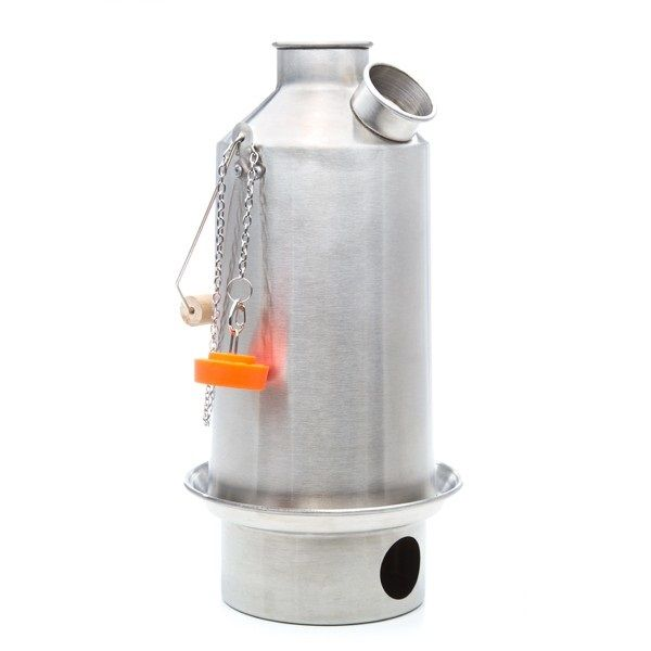 Stainless Steel Base Camp Large Kettle By Kelly Kettle For Camping And Emergency Preparedness