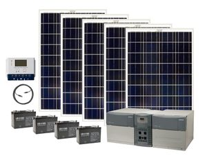 Earthtech Products Ultimate 4800 Watt Hour Solar Generator Kit with 500 Watts of Solar Power for Homes and Off-Grid
