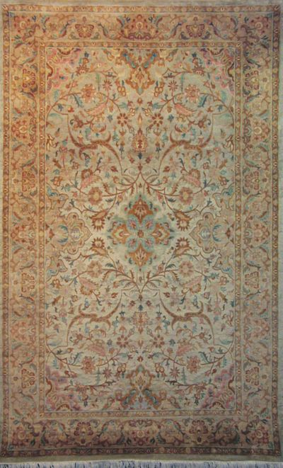 "Antique Qum: 8'4"" x 5'1"""
