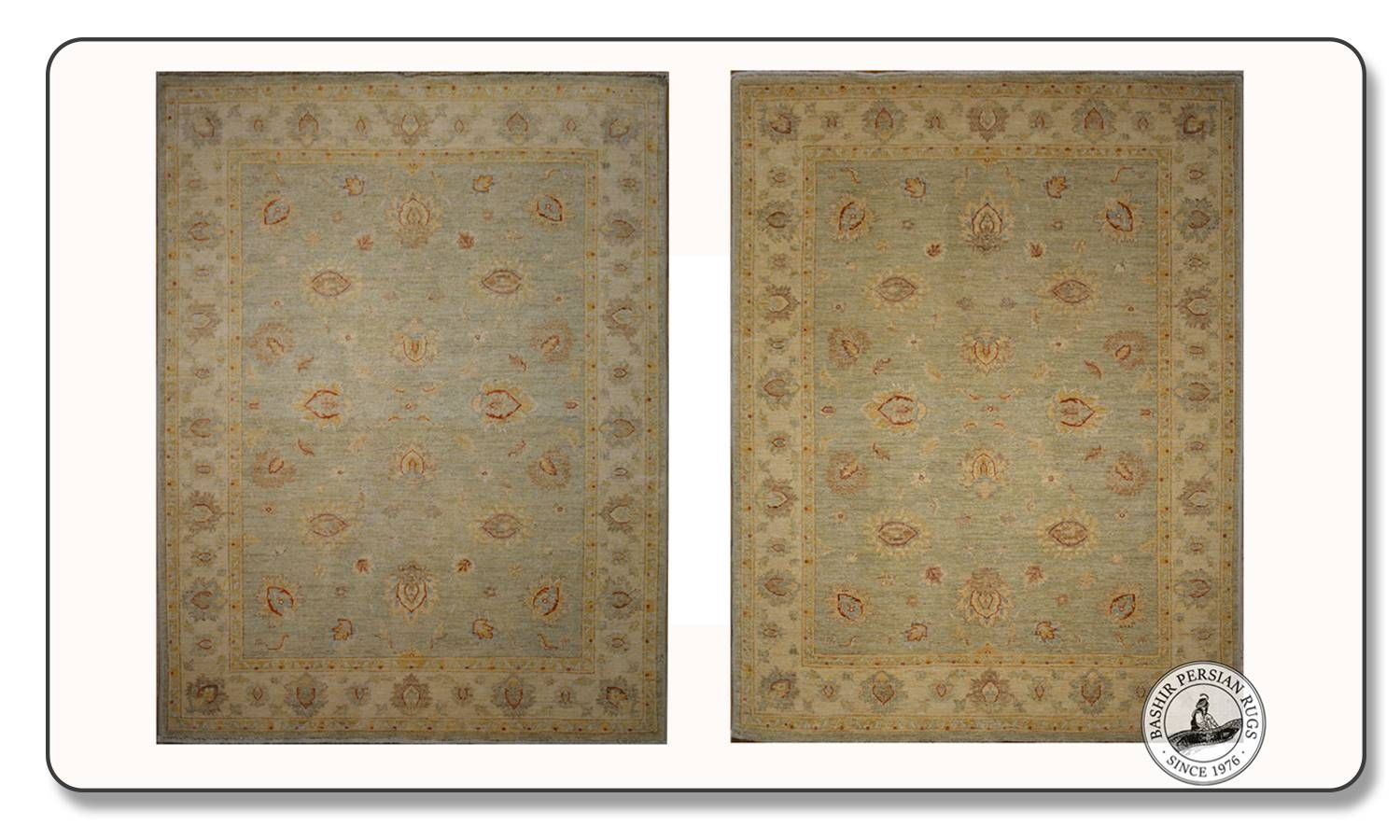 Difference in an oriental rug's sides