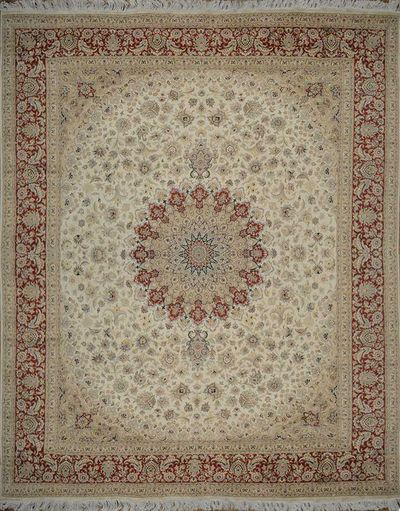 "Golden Medallion Isfahan: 10'4"" x 8'1"""