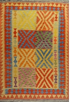 "Kilim Earrings Flatweave Rug: 5'9"" x 3'11"""