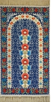 """Prayer Rug of the Blue Mosque: 3'11"""" x 1'11"""""""