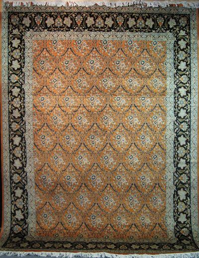 "Qum Trellis - Arts & Crafts de William Morris: 12'3"" x 9'"