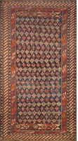 "Shirvan Antique - Circa 1910 : 9'3"" x 5'"