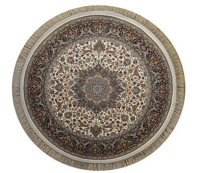 "Tabriz Medallion Carpet - North West Persia: 4'10"" x 4'10"""