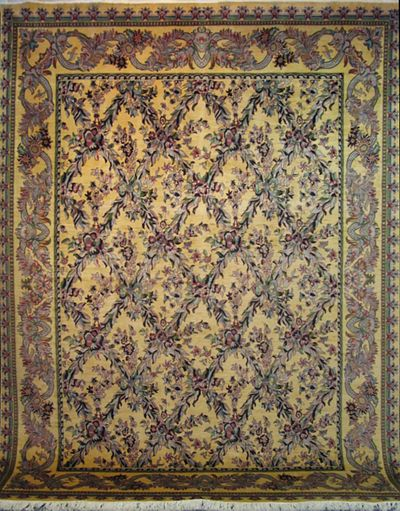 "Tabriz Trellis - Arts & Crafts by William Morris: 12'2"" x 9'2"""