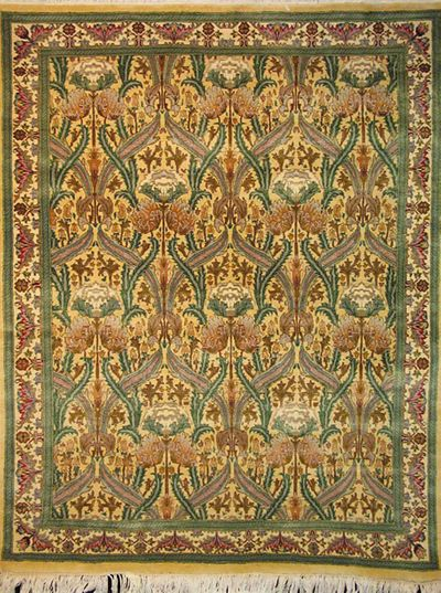 "Tabriz Zerekhaki - Arts & Crafts by William Morris: 6'2"" x 4'7"""