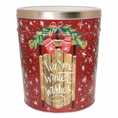 3 1/2 Gal. Warm Winter Wishes Gift Tin