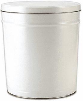 3 Gal. White Gift Tin