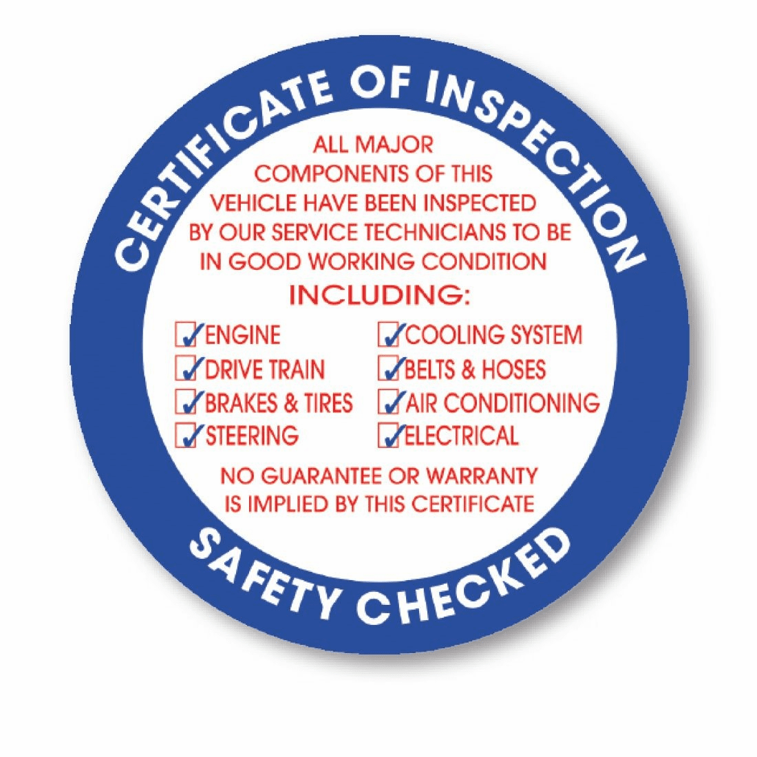 Face Adhesive Inspection Stickers