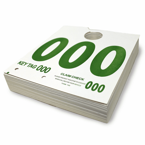Service Dispatch Control Tags 1000/pack