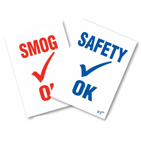 Smog/Safety Inspection Stickers