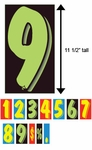 "VT™ Windshield Numbers (11 ½"")"