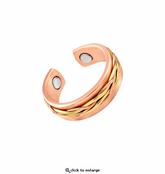 2 Copper Adjustable Magnetic Therapy Rings Two Rivers