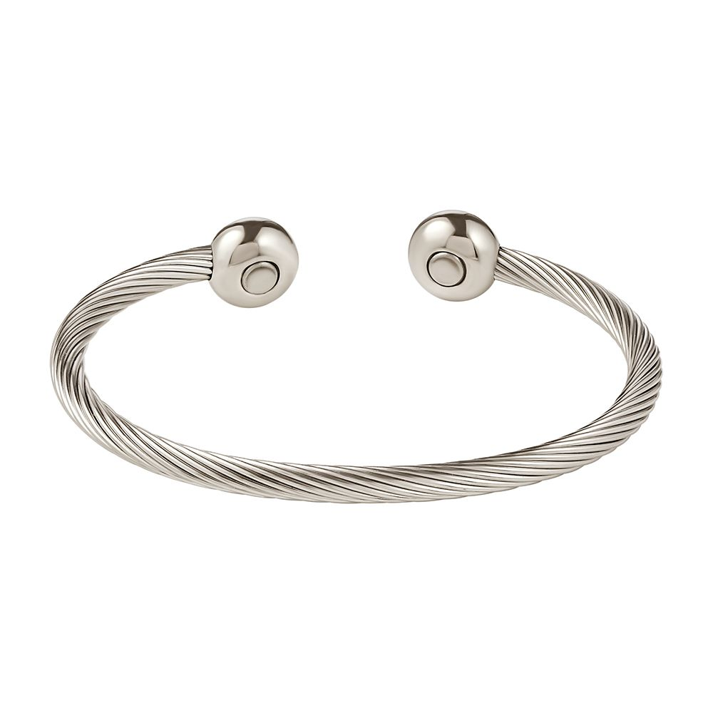 7cfc7402116 All Stainless Steel Cable Magnetic Therapy Bracelet