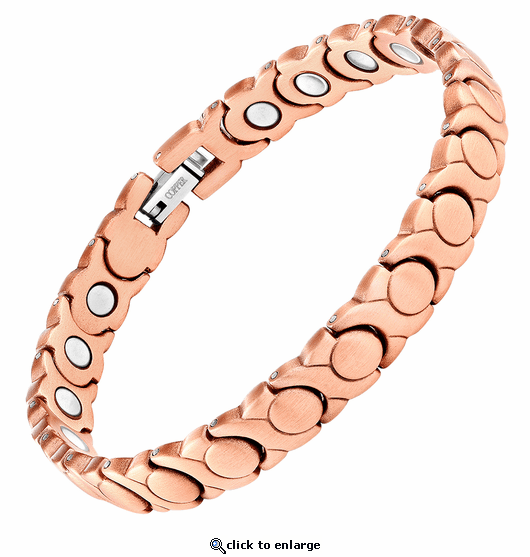 Copper Link Magnetic Therapy Bracelet XOXO 2