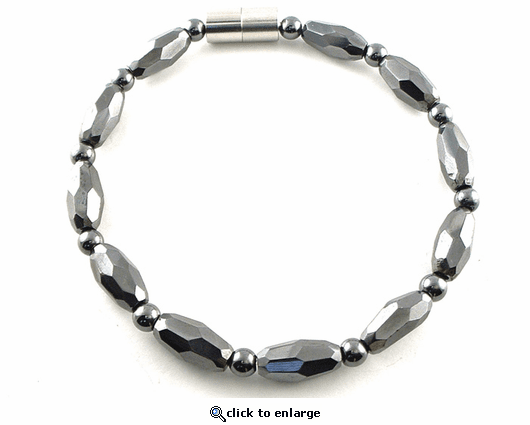 Hematite Magnetic Anklet Grand Marquise Jr