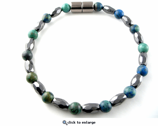 Hematite Magnetic Therapy Bracelet Lapis Marquise