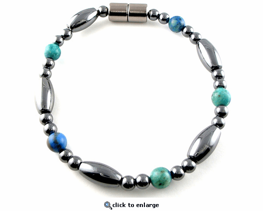 Hematite Magnetic Therapy Anklet Lapis Saturn