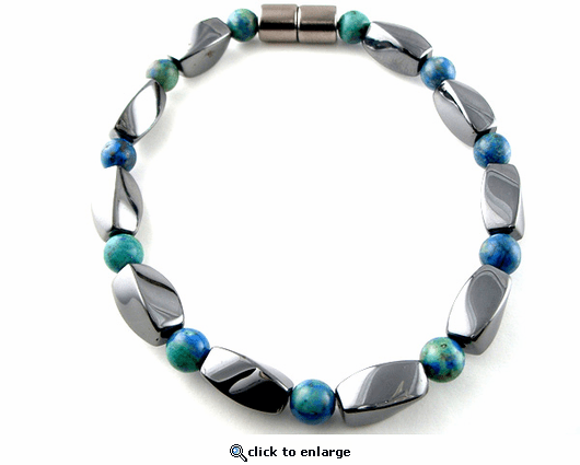 Hematite Magnetic Therapy Bracelet Lapis Twister