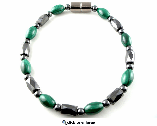 Hematite Magnetic Therapy Anklet Malachite Europa