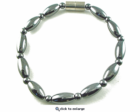 Hematite Magnetic Therapy Necklace Rice Duet