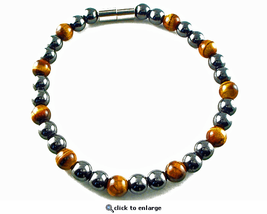 Hematite Magnetic Therapy Anklet Tiger Eye Unity