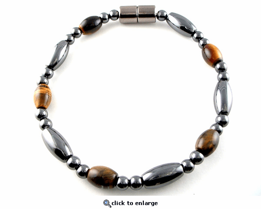 Hematite Magnetic Therapy Bracelet Tiger Rice Saturn