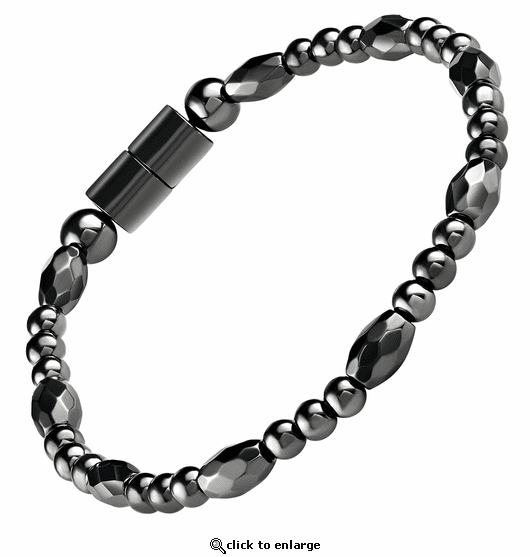 Hematite Magnetic Therapy Anklet Trey Petite Marquise