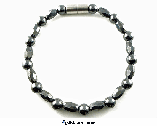 Hematite Magnetic Therapy Necklace Marquise