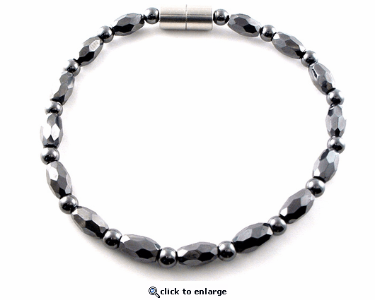 Hematite Magnetic Therapy Necklace Petite Marquise